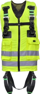 2 Point High-Visibility Full Body Harness - Yellow