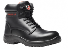 Black Metal-Free Derby Boot (Size 3 - 13)